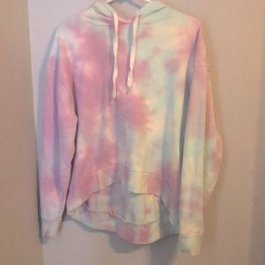 Over sized cropped hoodie